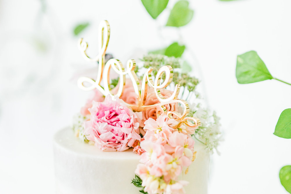 semi naked cake topper Olivia and Oliver Gold, Blush and Greenry Plants Gilded Garden Styled Bridal Shower Brunch with Bed Bath Beyond Joyfullygreen organic flower cake topper.jpg
