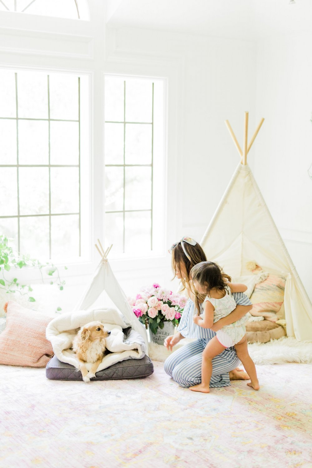 3 ways to create a welcoming and relaxing space for your new puppy on National Dog Day Pet Teepee Bed decor ideas