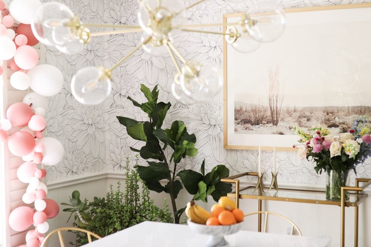 Home Decor Blogger Joyfullygreen Wallpaper Dining Room Makeover How To Choose Art With Minted 12