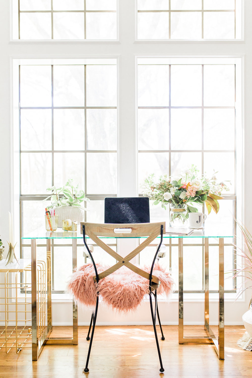 Home Decorating Tips for Beginners, Buy this Not That Boho Modern Gold office make over