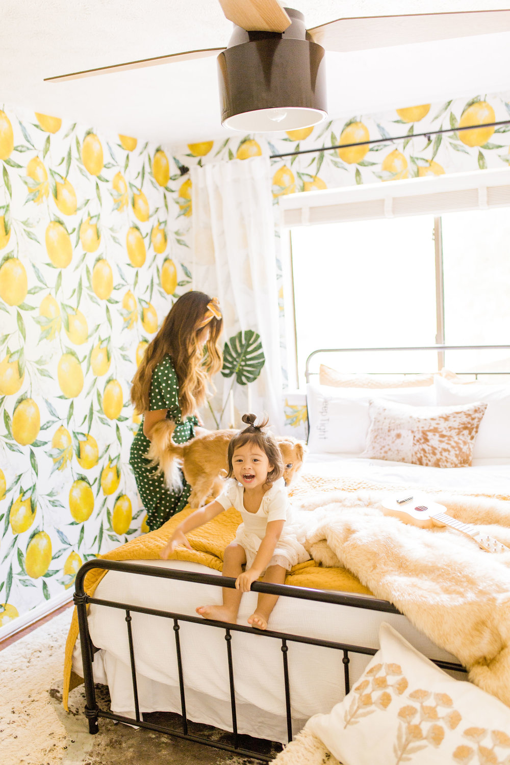 Top FAQs about peel and stick wallpaper Guest room make over with lemon wallpaper