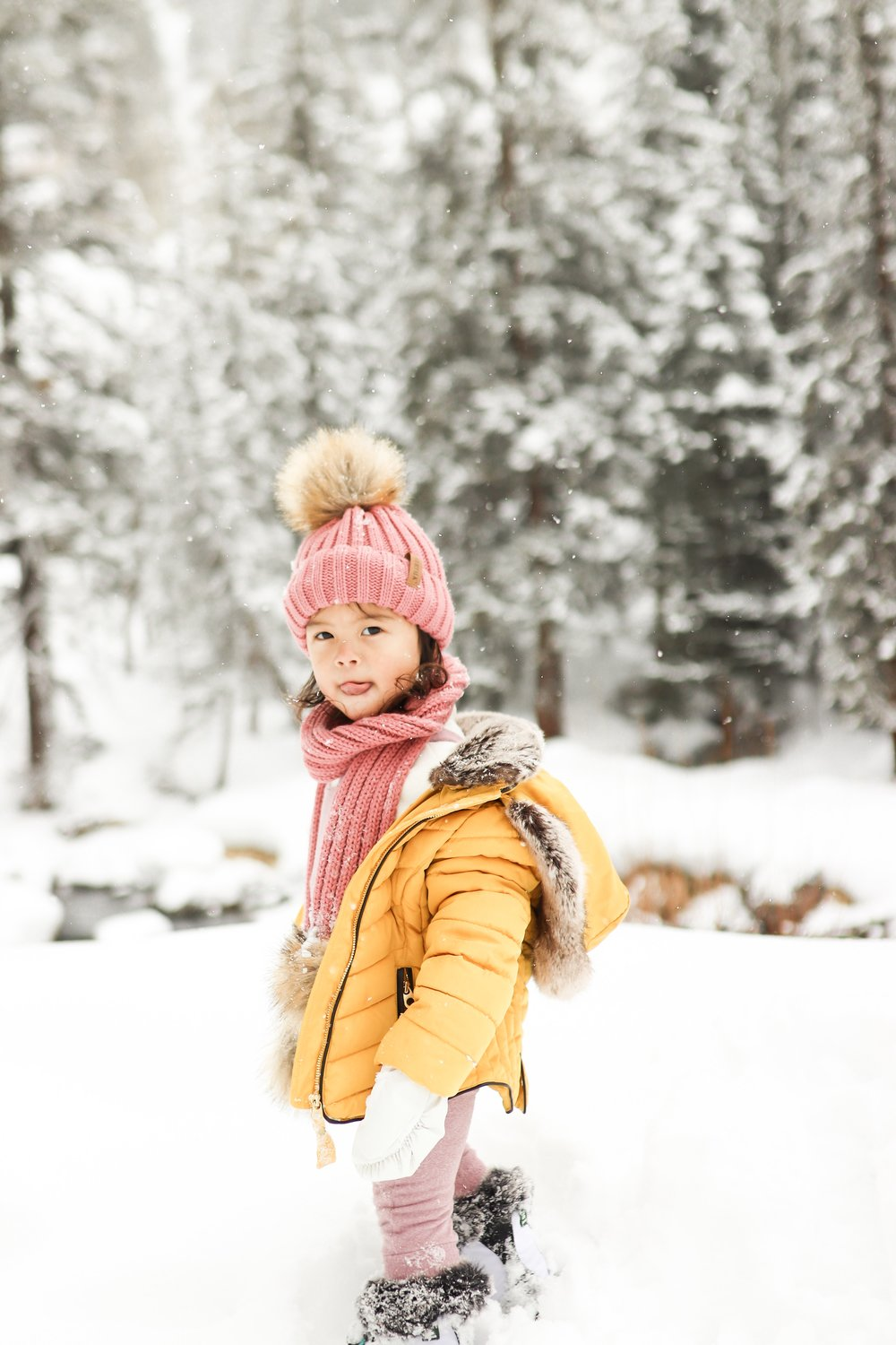 4 Day Itinerary in Vail Colorado with a Toddler - How to Prepare for Baby's First Ski Trip and 5 Winter Family Activities Hotel Talisa Review Joyfullygreen Family Travel Blogger
