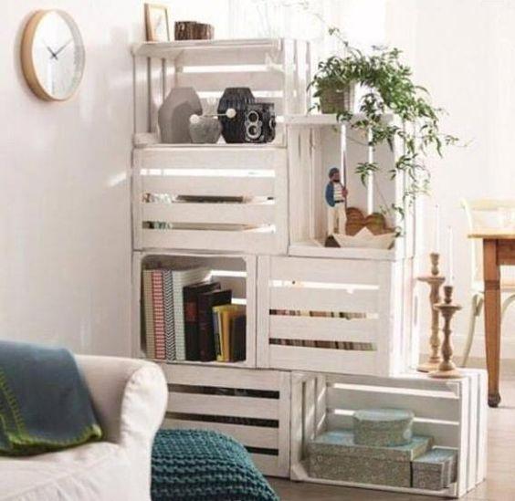 14. Wall divider & staircase bookshelf
