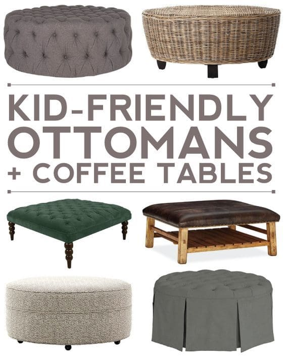 kid friendly ottomans