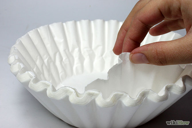 coffee filter cleaning hack