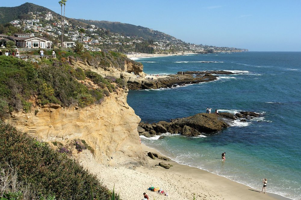 The beach below the Montage Spa and Resort in Laguna Beach