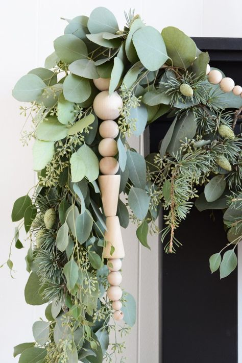 eucalyptus garland wood beads