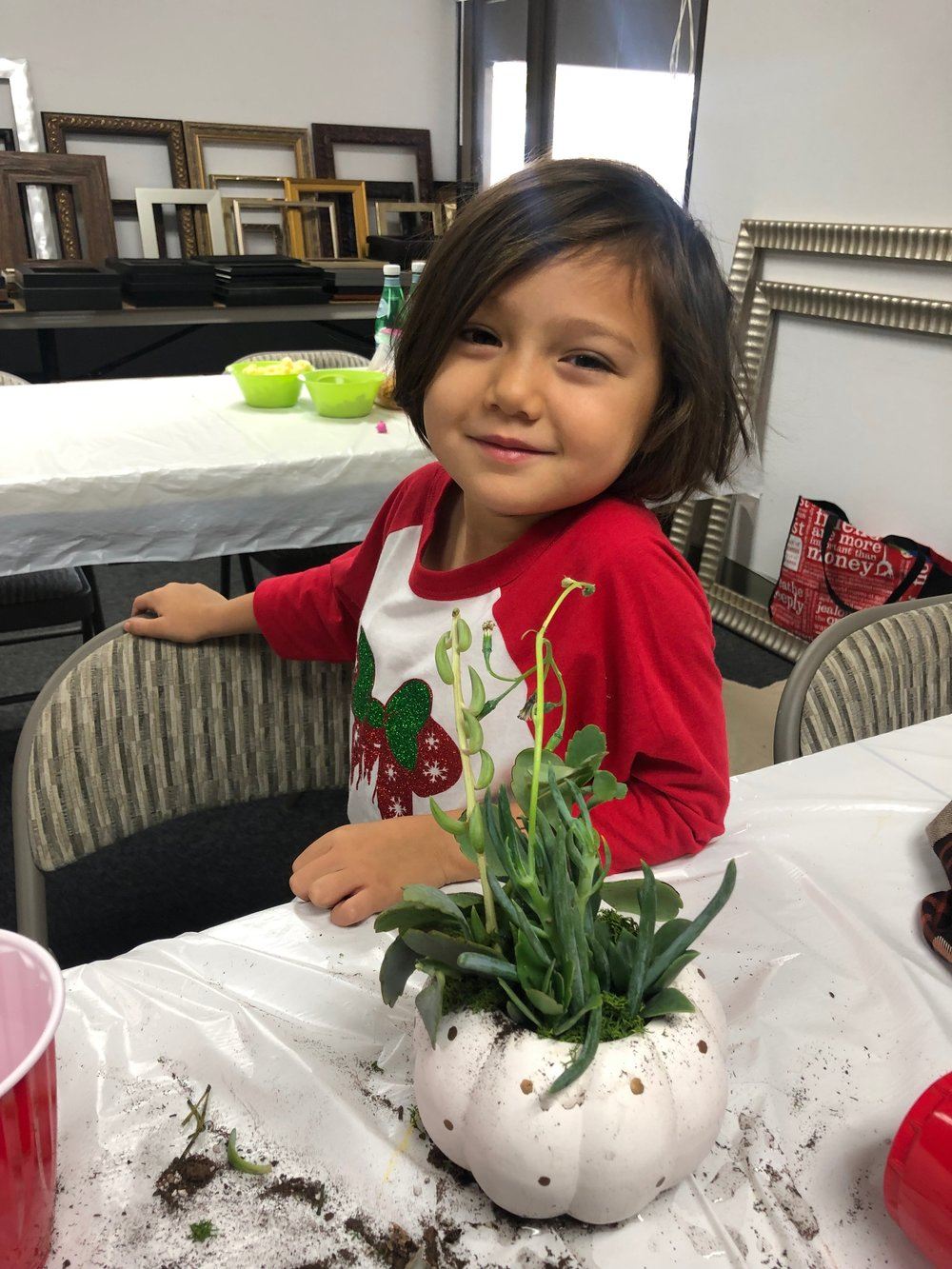 Kid friendly succulent class - Mommy and me!