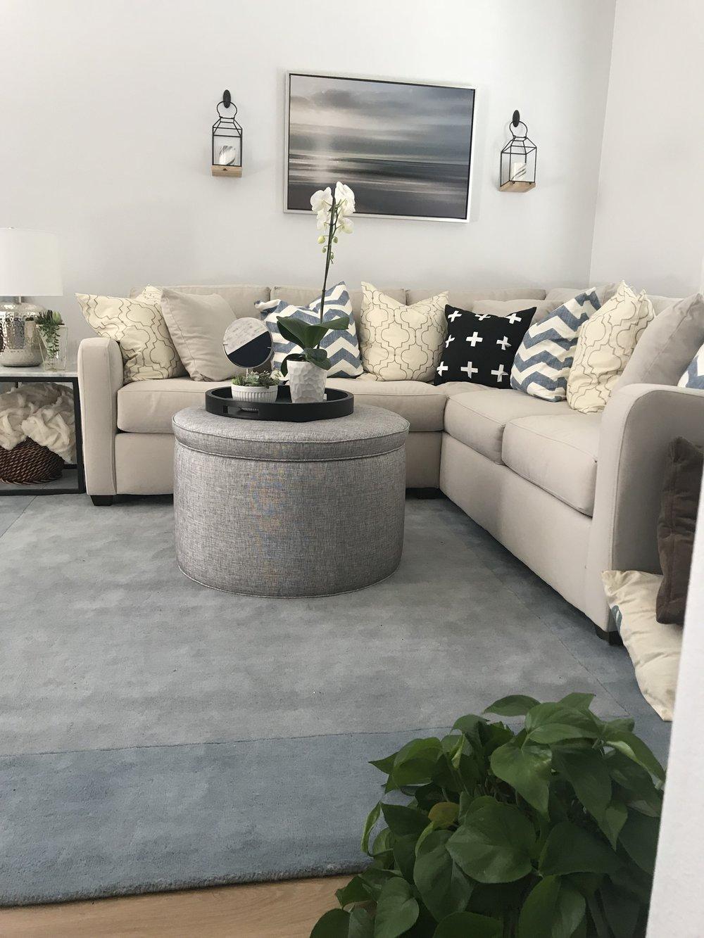 Black and White California Modern living room - Tiffany Lee Ann Design