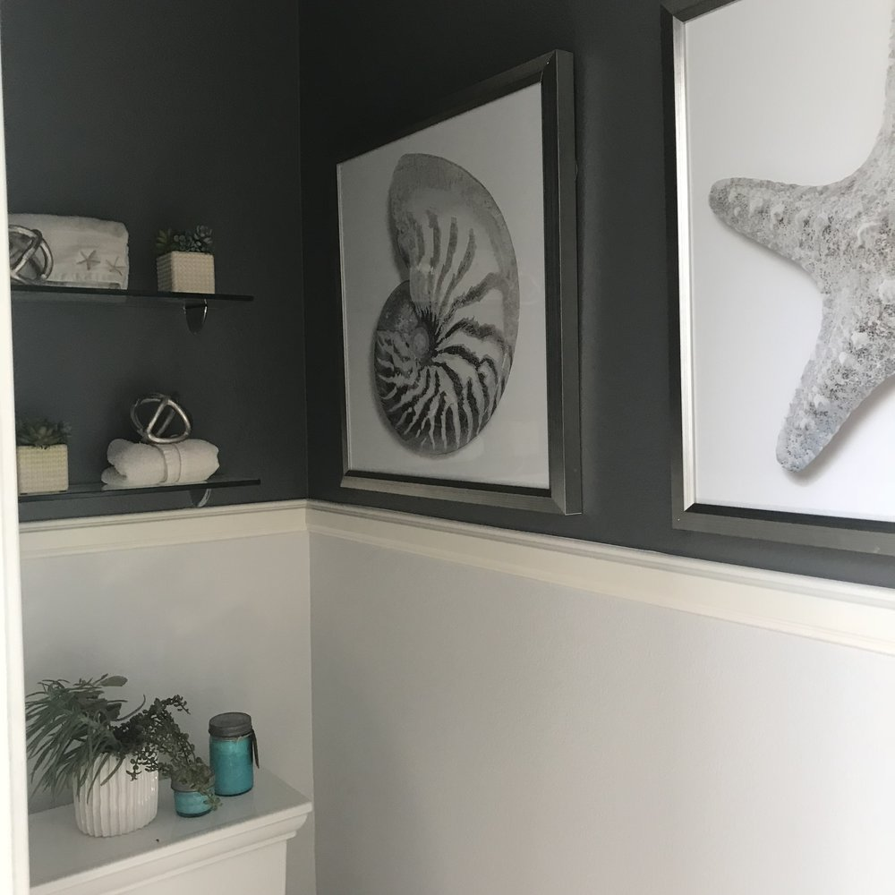 Black and White California Modern Powder Room - Tiffany Lee Ann Design