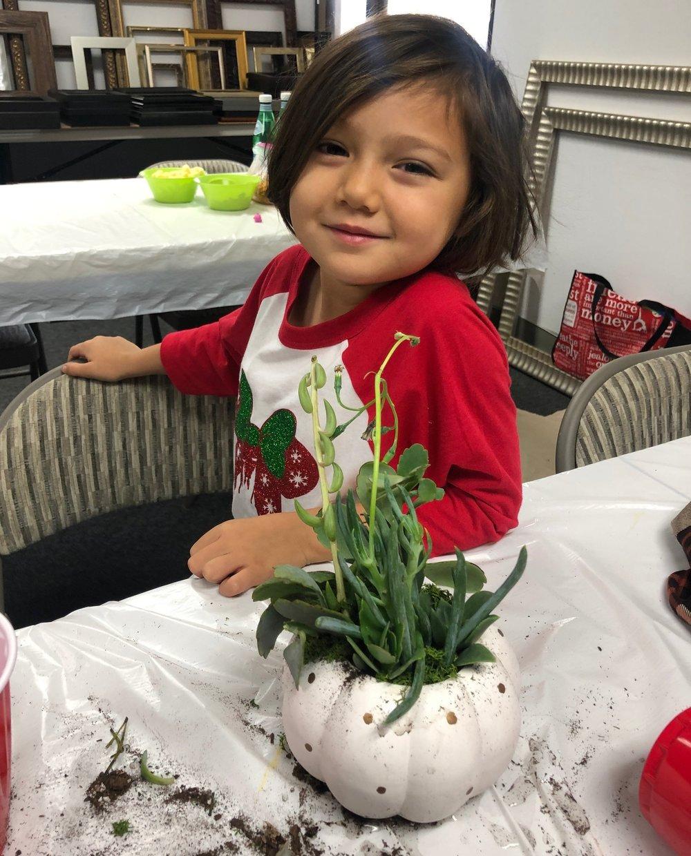 kid friendly craft class - succulent
