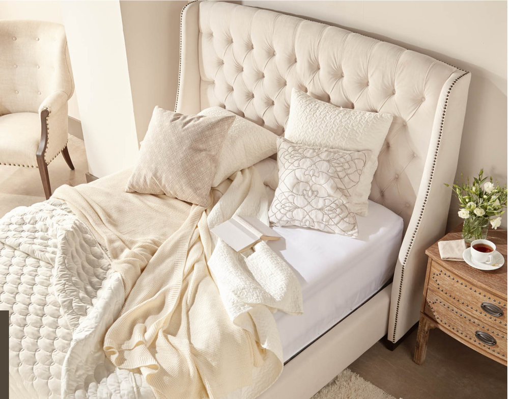 Bedroom should be soothing and elegant.