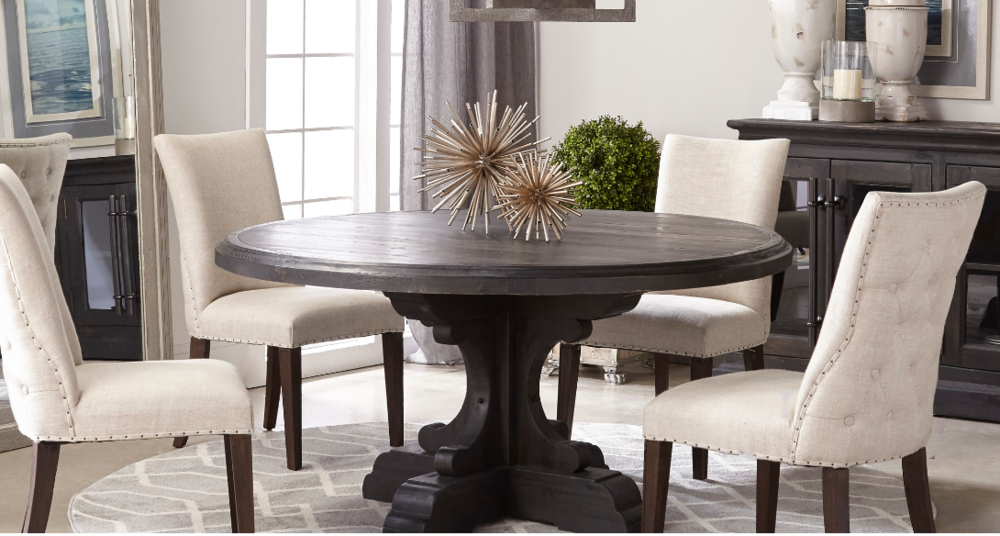 My favorite round dining table install of 2018!
