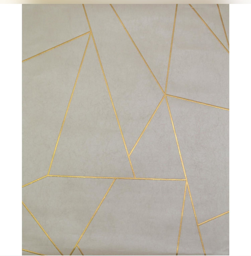 Apply gold foil wallpaper for quick and easy application of gold.