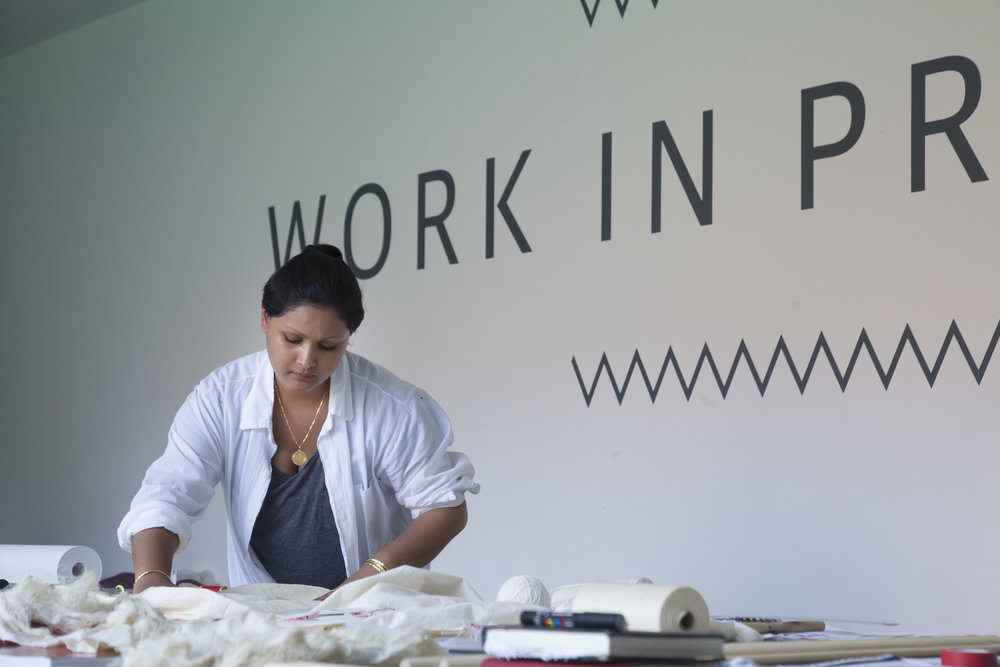 Raisa Kabir at work, Whitworth Art Gallery - Documentary Photography