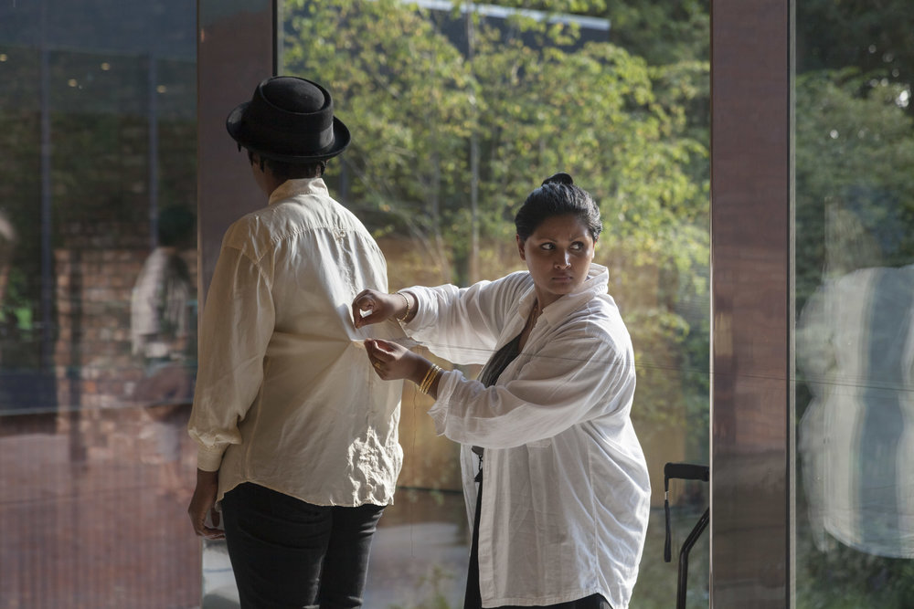 Raisa Kabir at work, Whitworth Art Gallery - Documentary Photography