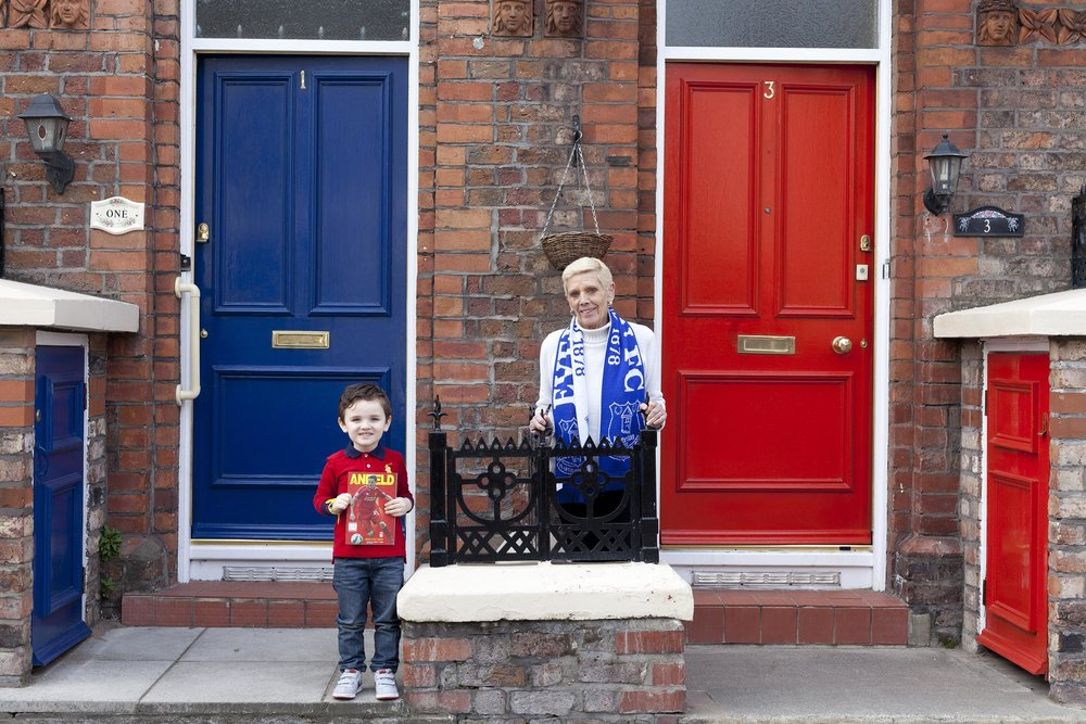 Local fans, old and young, Anfield, Liverpool - Documentary Photography