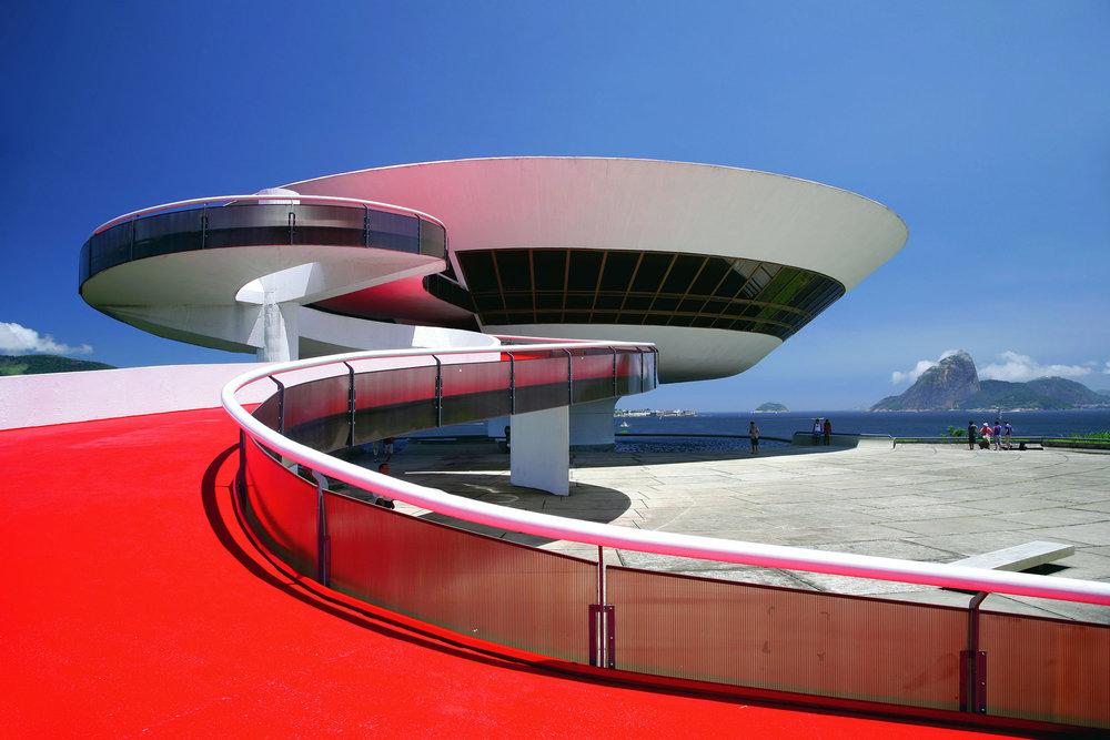 MAC Centre in Niteroi, Rio de Janeiro by Oscar Niemeyer