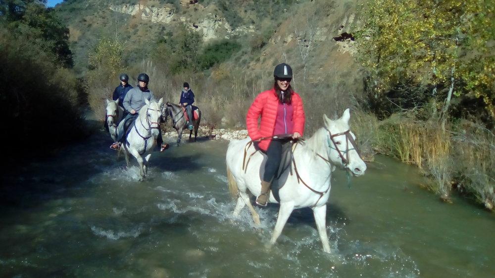 Randonnées - Recoins de la Sierra de Guara, secrets, magnifiques, la nature dans toute sa splendeur. Nous vous organisons des randonnées de plus de 3h à cheval ou vous aurez l'occasion de vivre une expérience unique, toujours adaptée à votre niveau d'équitation.