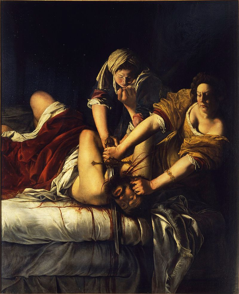 Artemisia Gentileschi,  Judith Slaying Holofernes,  1610-14, Uffizi Gallery.