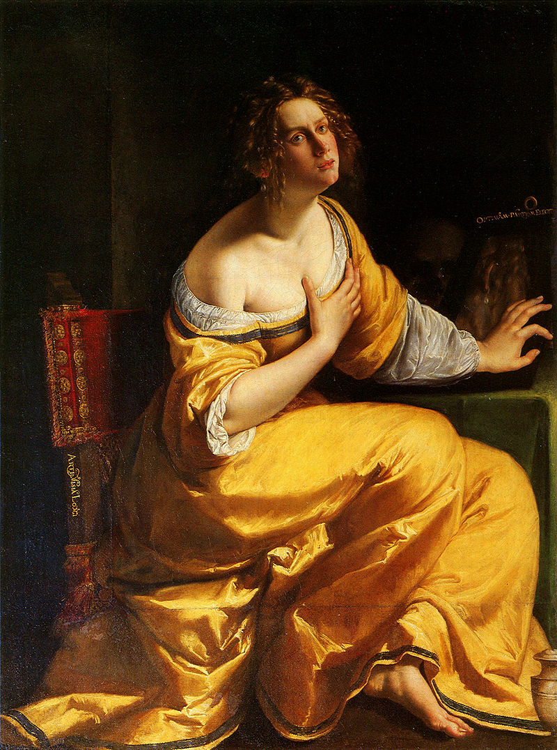 Artemisia Gentileschi,  Conversion of Mary Magdalene,  1616-20, Pizzi Palace, Italy.
