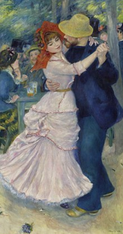 Valadon posed for Renoir's  Dance at Bougival,  1883 (Museum of Fine Arts, Boston)