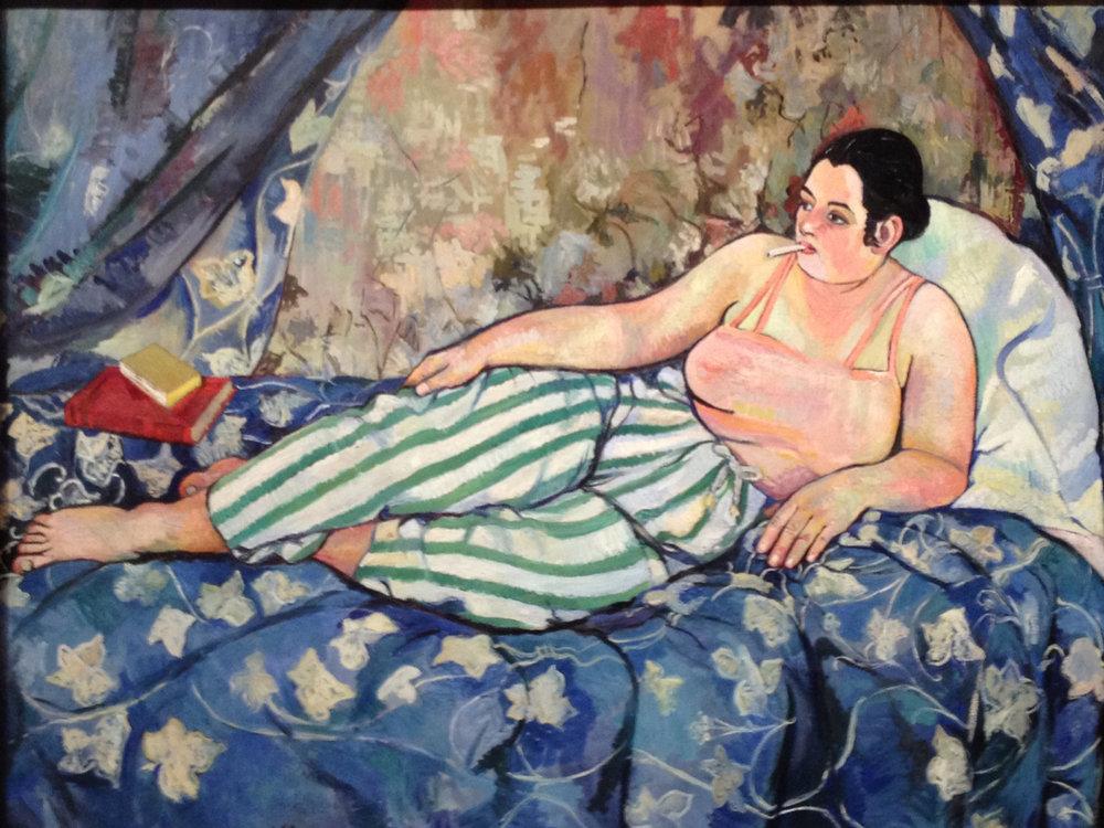 Suzanne Valadon,  La Chambre Bleue,  1923 (Centre Pompidou, Paris)