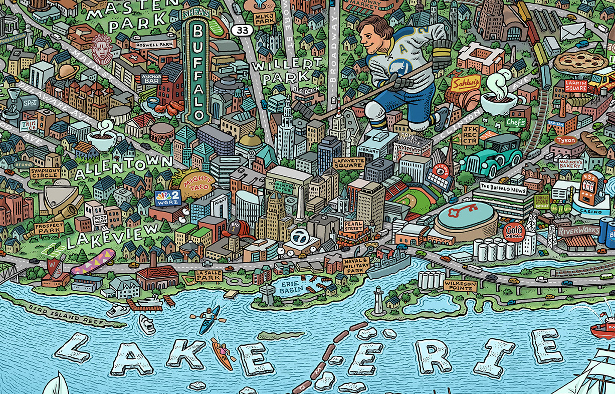 National Parks Map From Mario Zucca Illustration - All maps