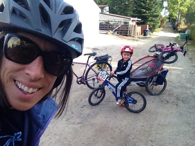 Rolling with Van on bikes