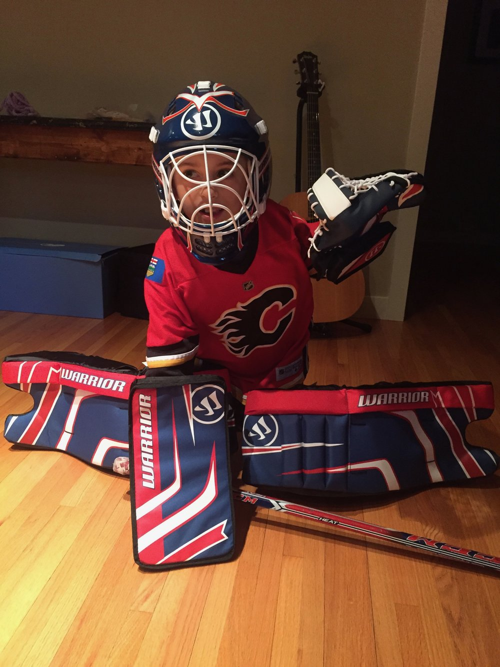 Ben's birthday goalie gear.