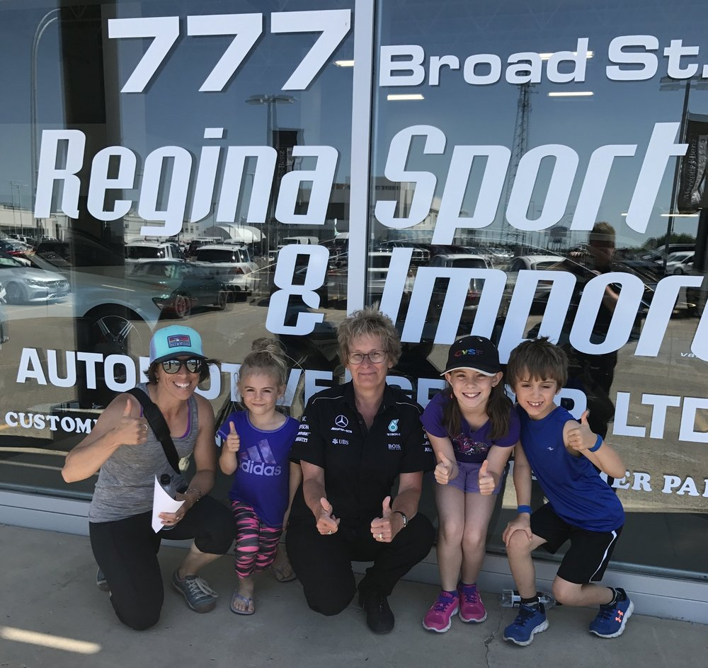 Thanks Kelly and the Regina Mercedes chapter for getting us back on the road!
