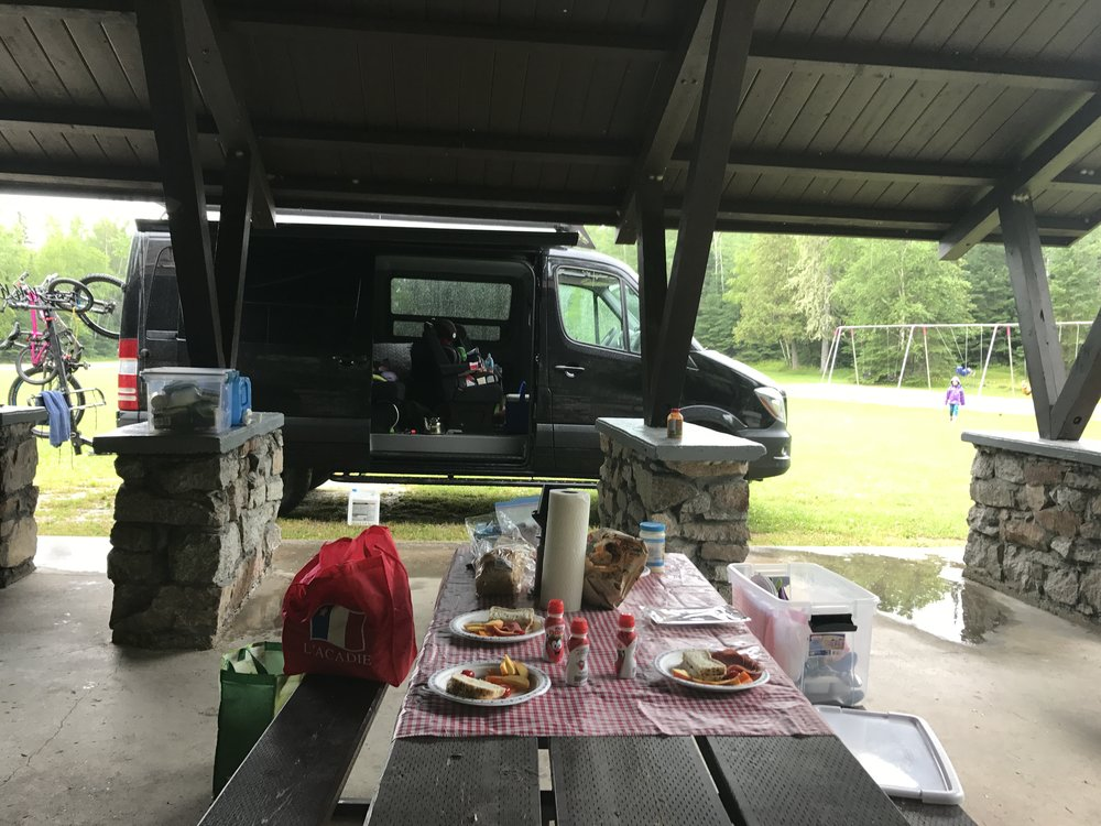 Picnicking at Aaron Provincial Park