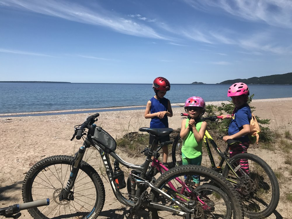 Pedal along Lake Superior.