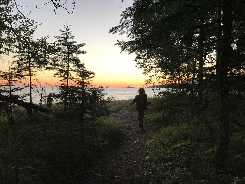 Sundown at Lake Superior Provincial Park.