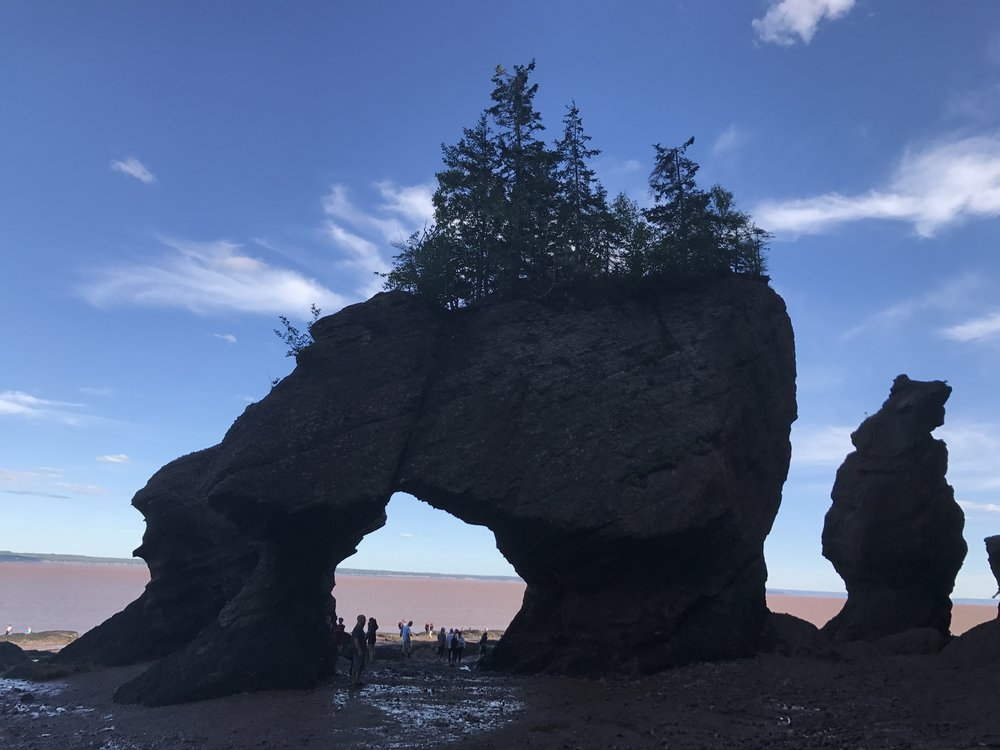 Hopewell Rocks...checking out the Bay from the hole in the rock.