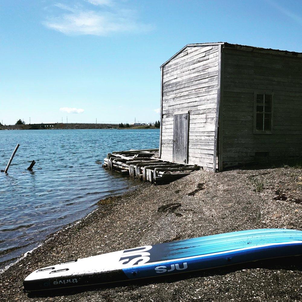 Paddle board in the Petit-de-Grat harbour.