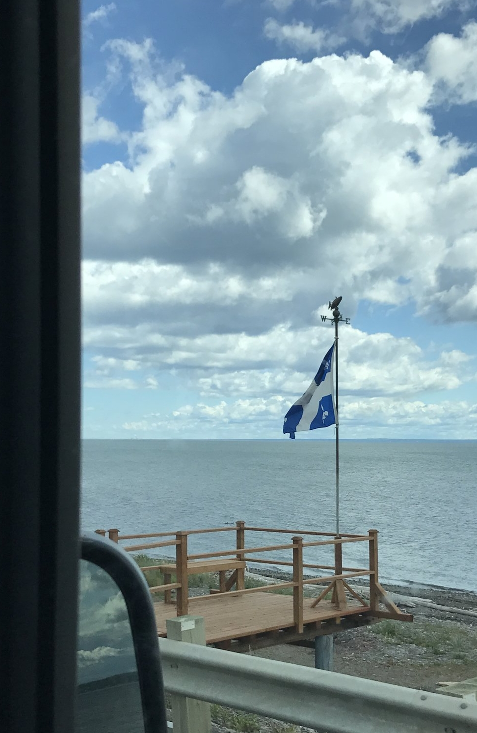 The Québec Flag in the Gaspésie.