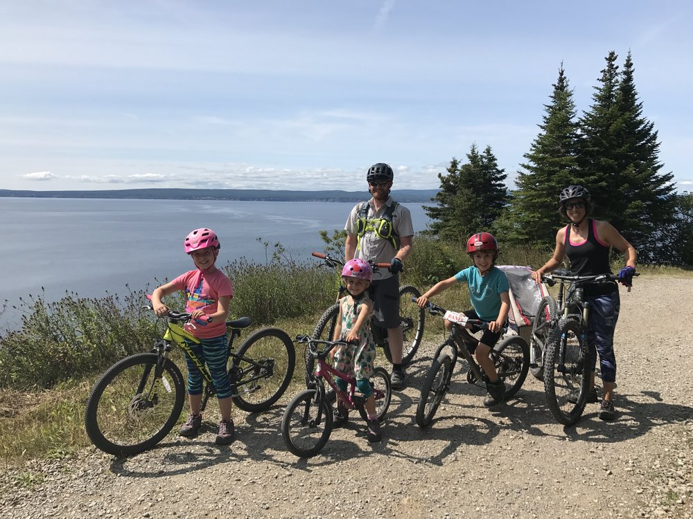 Family pedal at Cap-Gaspé.