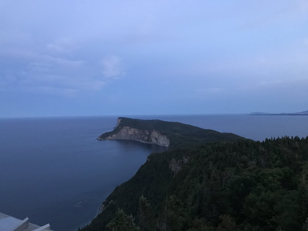 Another perspective of Land's End from the Observation deck on Mont-Saint-Alban. We made it to the spectacular look out with just enough light to still see it!