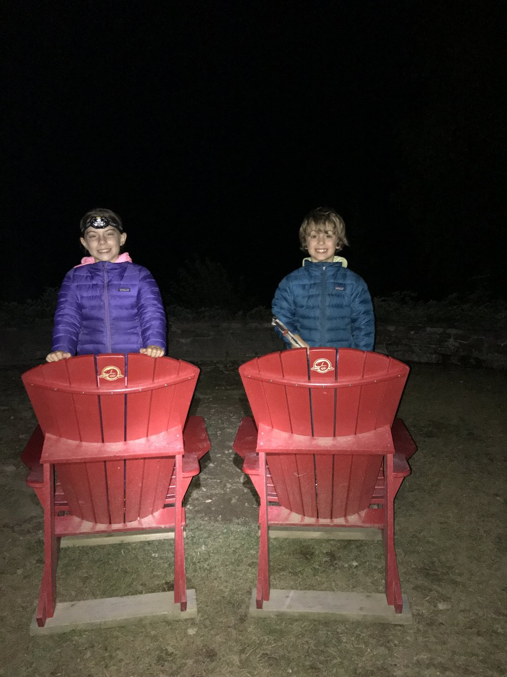 Red Chairs in the dark!