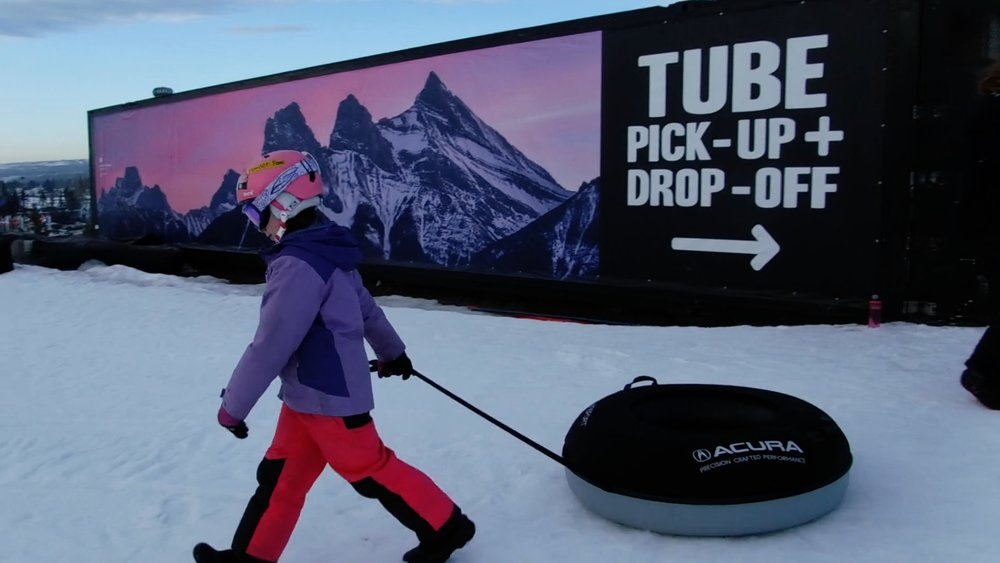 Hi, I'm #getkidsout Ambassador Sophie. Join me at the Acura Tube Park at Canada Olympic Park and check out how much fun it is to slide down the lanes. If you like to go fast and have fun, then this is the place for you!  GKO vlog has got the video:  Tubing at Canada Olympic Park