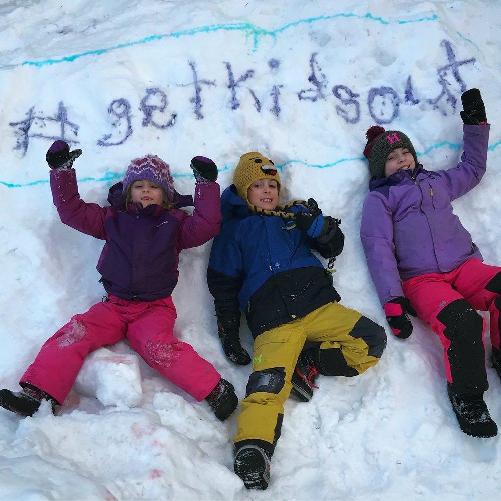 #getkidsout  Ambassadors Ellie, Ben, & Sophie