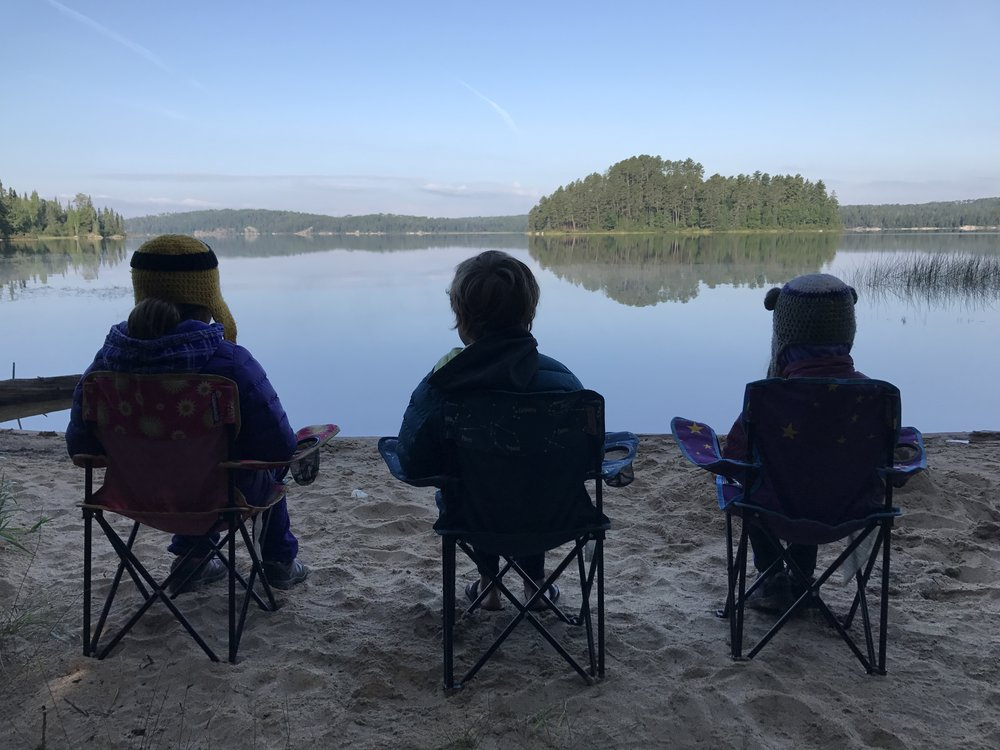 #getkidsout Ambassadors enjoying a cool and calm morning in Quetico Provincial Park, Ontario.