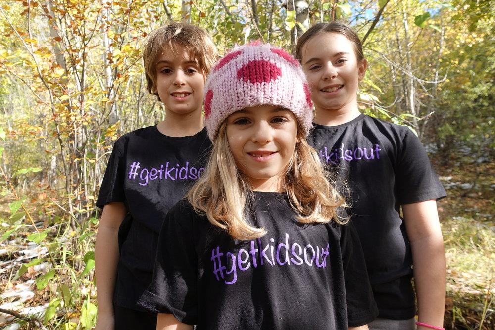 #getkidsout Ambassadors: Ben, Ellie, and Sophie