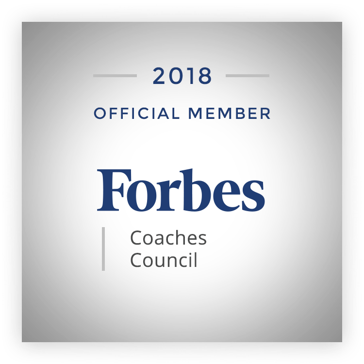 Proud to be selected as a member of the exclusive Forbes Coaches Council since 2016.