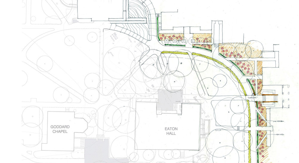 Tufts Medford Campus Map.Tufts University Academic Green Renovations Landworks Studio Inc