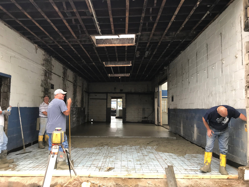 Pouring new floors!