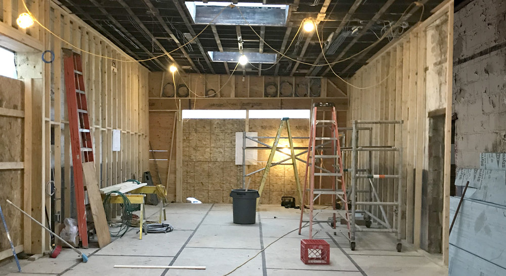 3. Reconstruction - At last! The Studio and Gallery Begin to Emerge! (October-November 2018)
