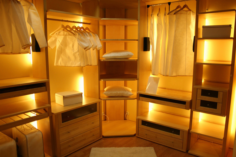 Lighting for your walk-in closet