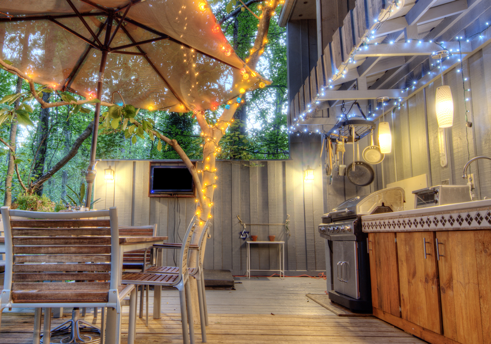 Tips for lighting your outdoor kitchen light my nest string lights easy and charming outdoor kitchens are getting more and aloadofball Choice Image